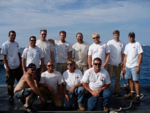 AMSI Crew that helped prepare the ship for sinking