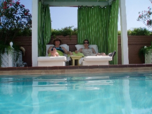 My awesome stepmom and me in an Ocean Key cabana. Rough life.